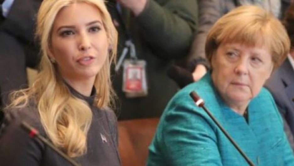 Иванка Трамп и Ангела Меркель.