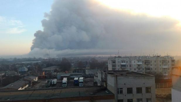 Взрывы боеприпасов на Украине.