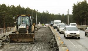 Расширение путепровода на шоссе Ленточный бор