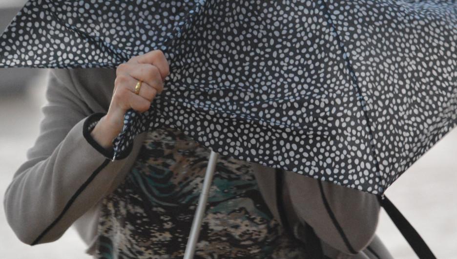 Дождь, ветер, зонт.