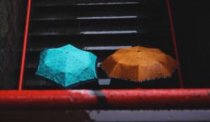 Дождь. Зонты.