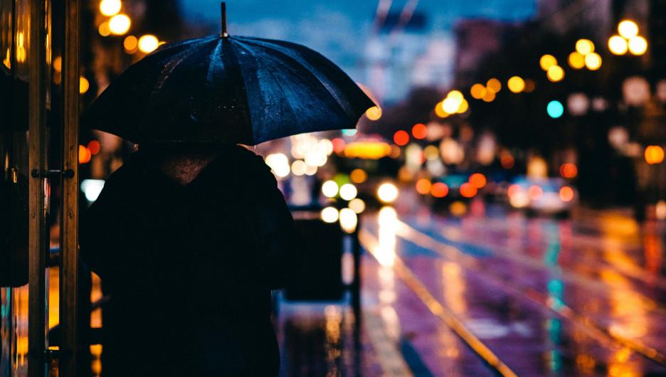 Дождь в городе.