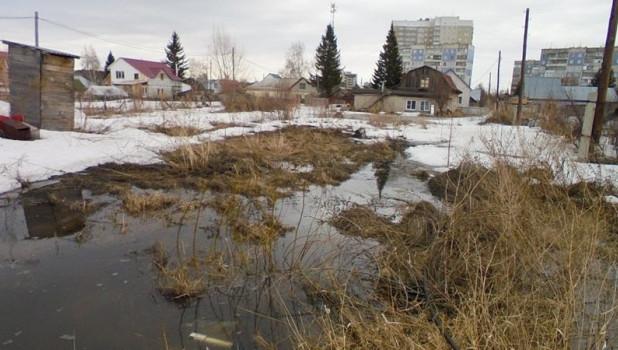 В Барнауле откачивают талые воды. Паводок на Алтае.