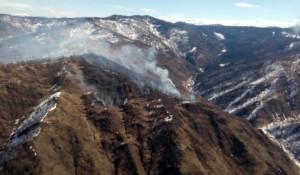 Лесной пожар в Республике Алтай.