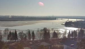 Бия возле Бийска 11 апреля. Паводок-2017 на Алтае.