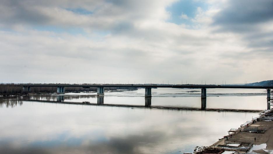 Обь у Нового моста в Барнауле.