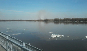 Пожар на правом берегу Оби.