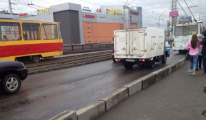 ДТП на мосту на Новом рынке.
