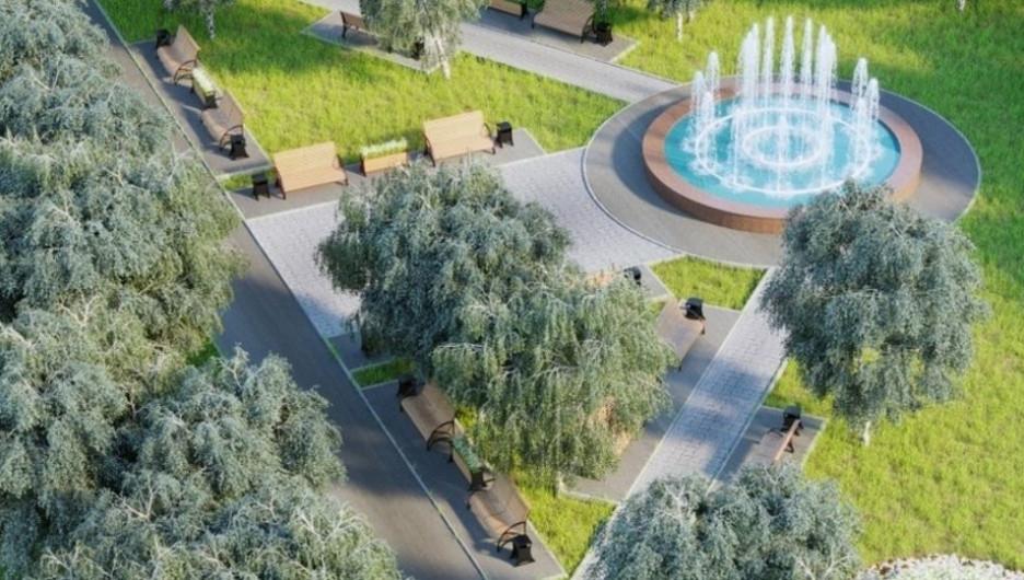 Проект реконструкции центральной площади Алейска.