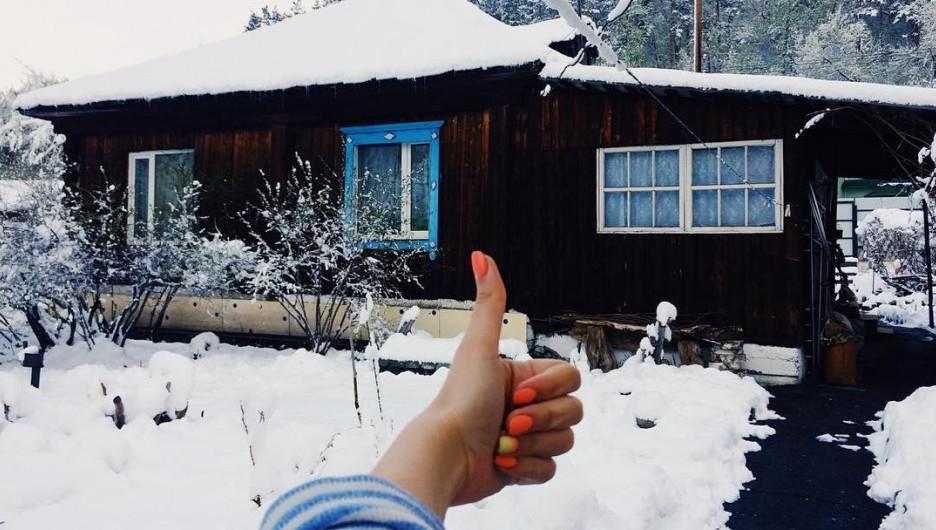 Алтай завалило снегом. 3 мая 2017 года.