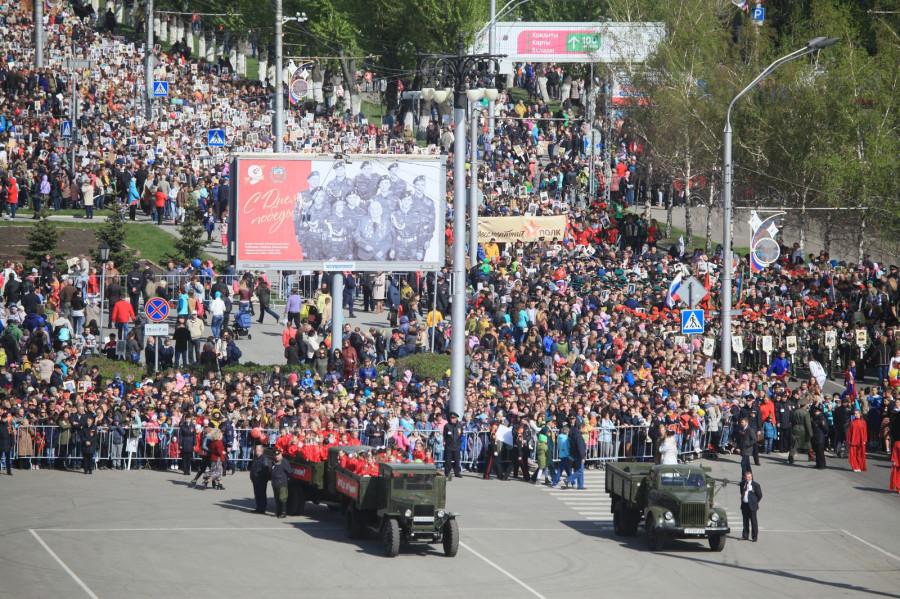 Парад Победы в Барнауле. 9 мая 2017 года.
