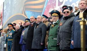 Путин на Параде Победы в Москве.