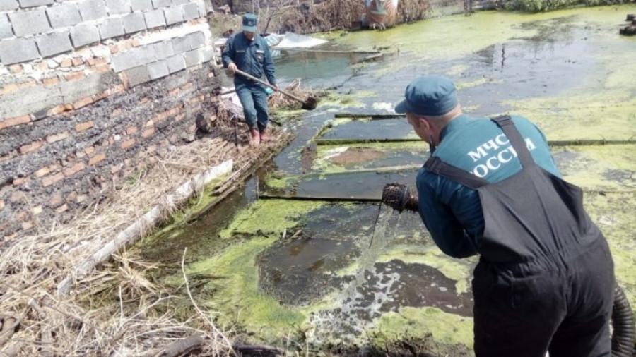 Откачка грунтовых вод.