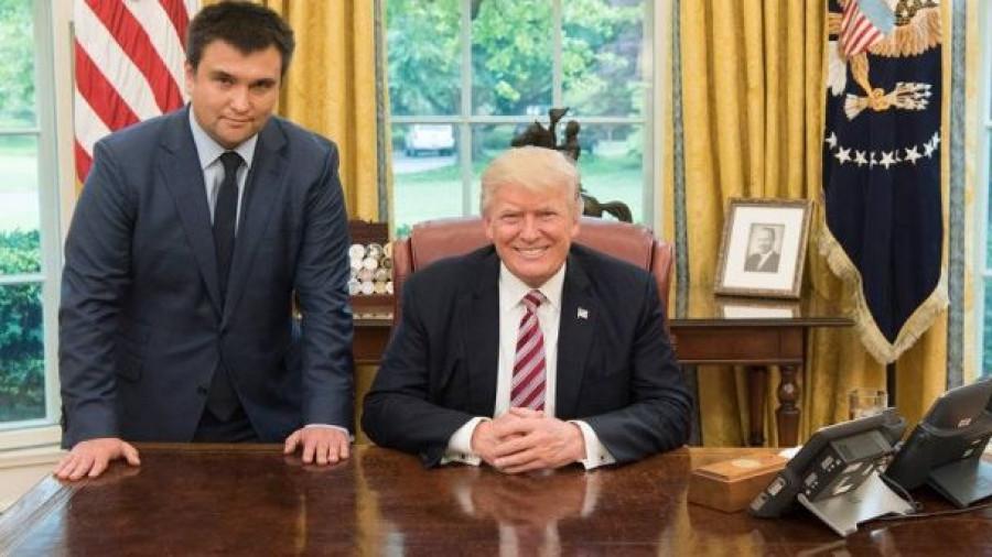 Павел Климкин и Дональд Трамп.