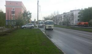 ДТП с маршруткой в Барнауле.