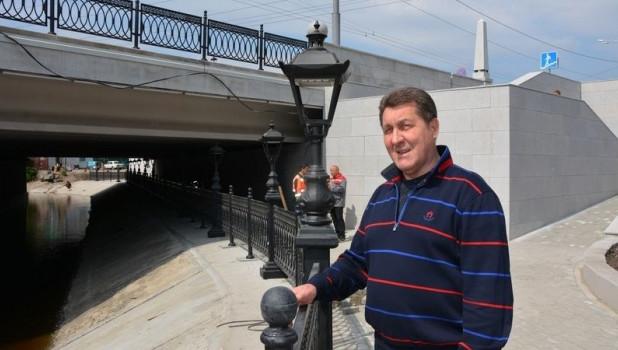 Сергей Дугин на набережной Барнаулки.