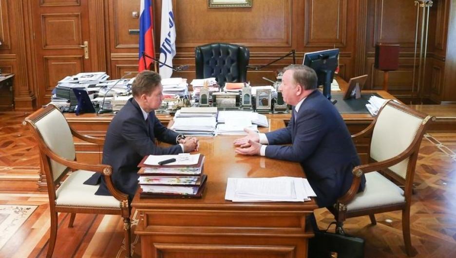 Алексей Миллер встретился с Александром Карлиным. 24 мая 2017 года.