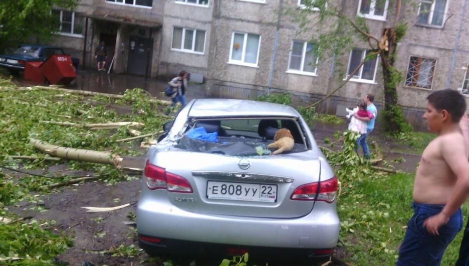 Ураган в Барнауле. 30 мая 2017.