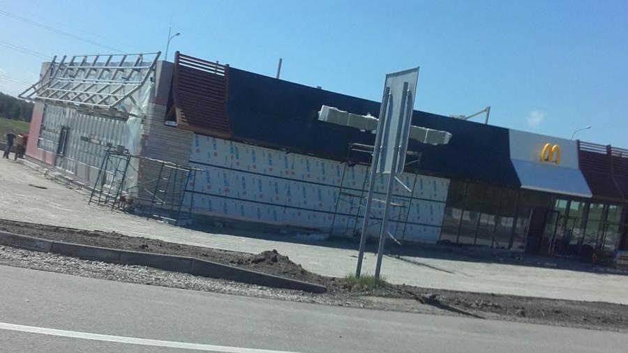 На заправке возле Новоалтайска построят Макдоналдс.