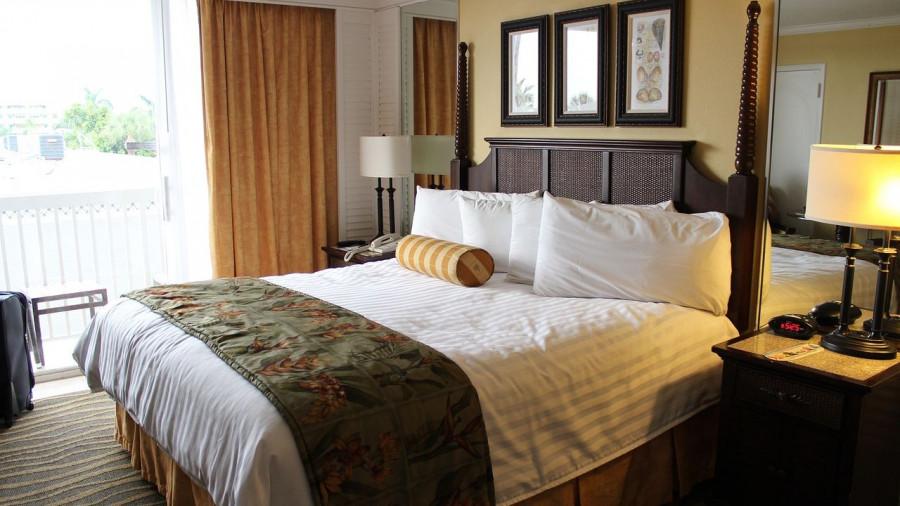 Гостиница. Кровать. Отель.