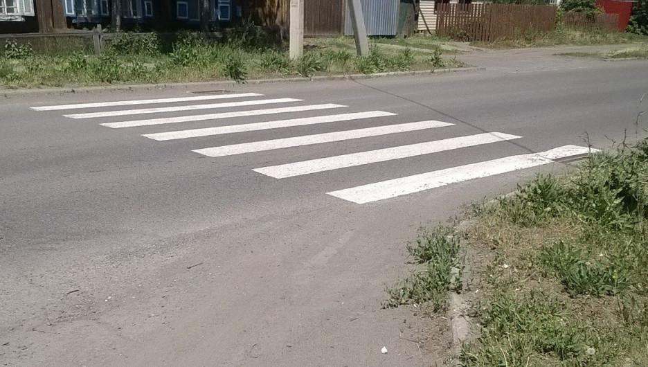 В Бийске на улице Иркутской нанесли странную разметку.