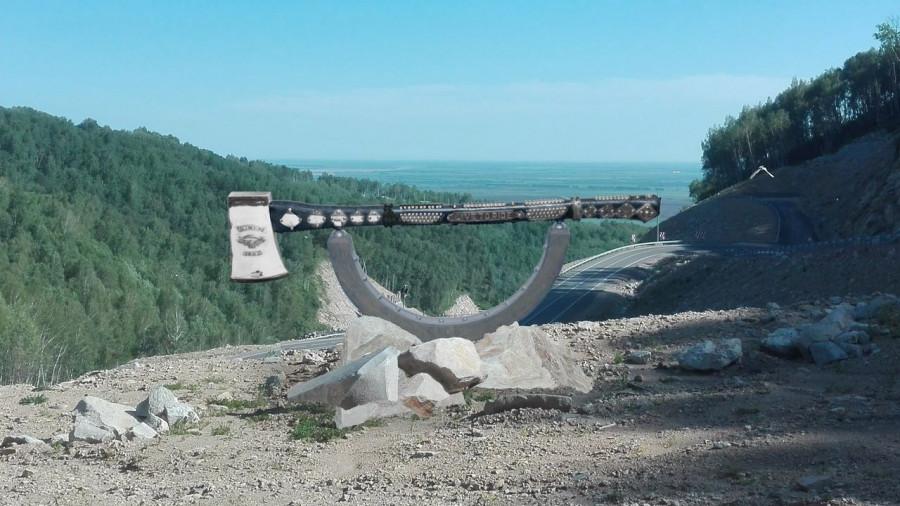 Как будет выглядеть памятник байкерскому топору на серпантине у Белокурихи-2.