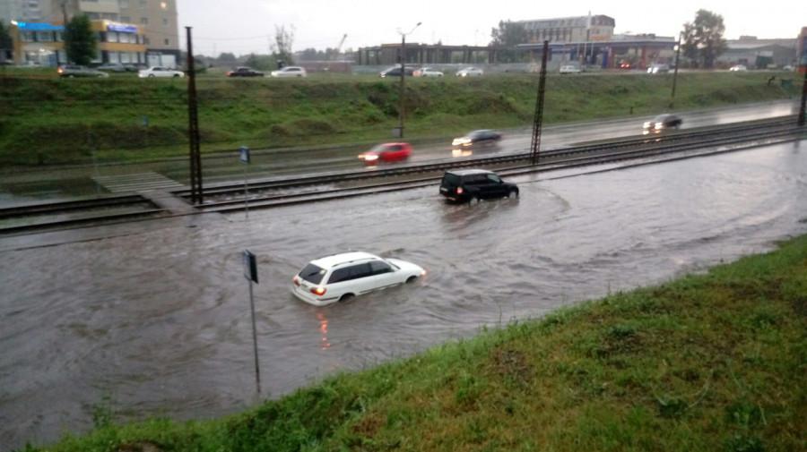 Потоп на Малахова летом.