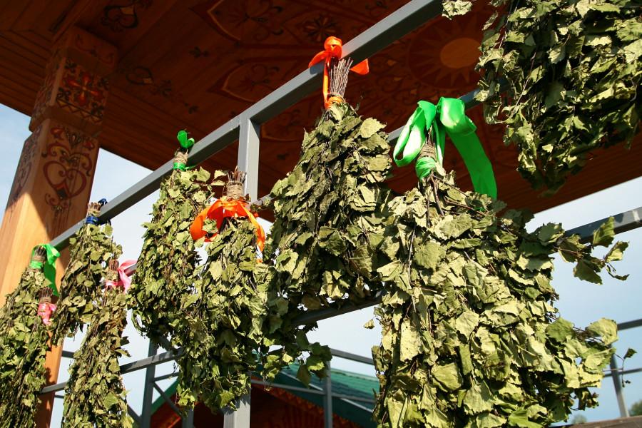 На Алтае прошел фестиваль для любителей веников и пара.
