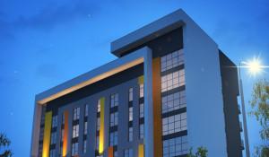 Эскиз здания технопарка в Барнауле.