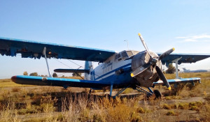 Ан-2 на почетной стоянке барнаульского аэропорта.