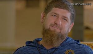 Рамзан Кадыров во время интервью телеканалу HBO.