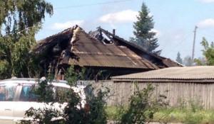 В Бийске сгрел дом многодетной семьи.