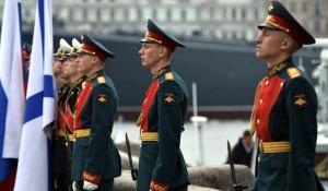 Главный военно-морской парад в Санкт-Петербурге.