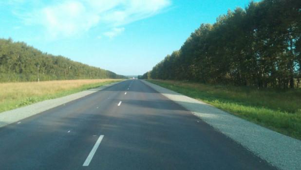 Дорога после ремонта.
