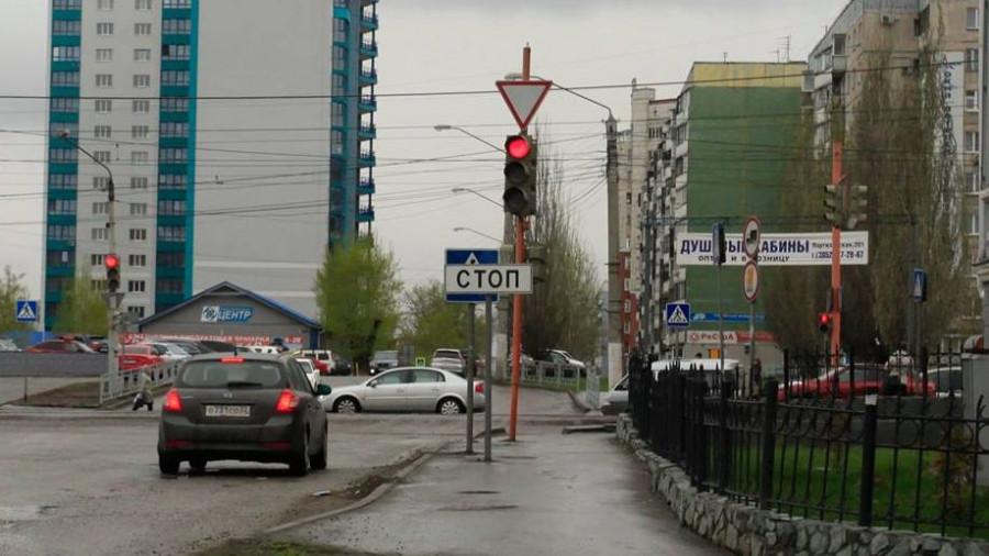 Перекресток пр. Красноармейского и ул. Партизанской в Барнауле
