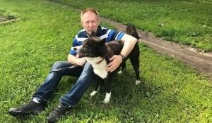 Николай Герасименко и его пес Кей.