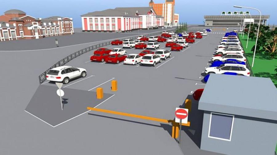 Рисунок-схема платной парковки на Привокзальной площади в Барнауле.