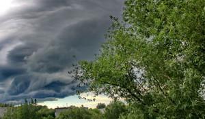 Перед грозой. Непогода в Барнауле.
