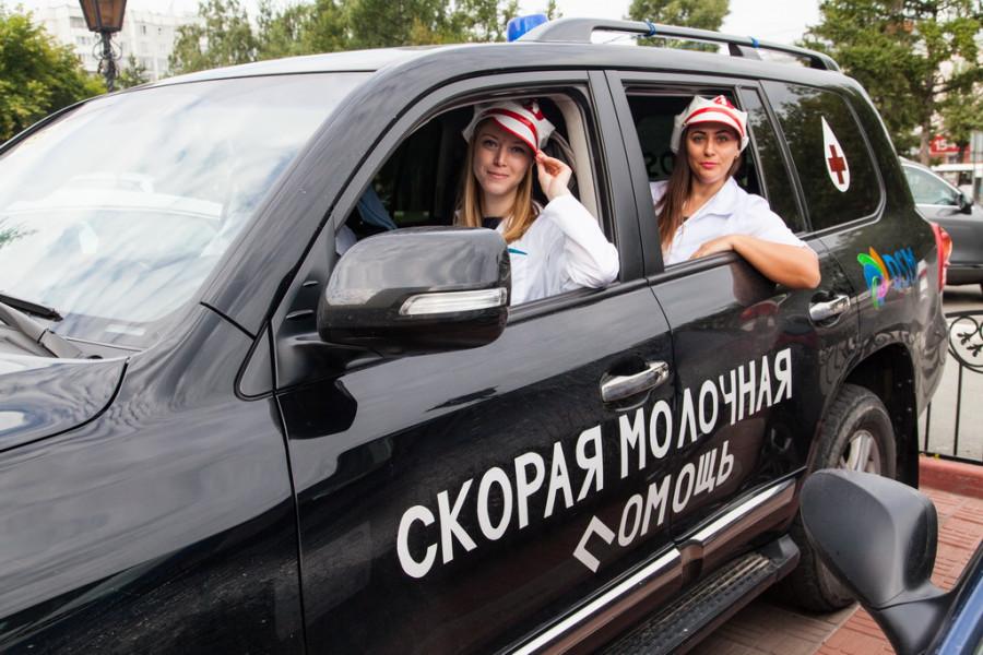 "На Алтае три дня проходил автопробег ""Дорогу молоку!"""