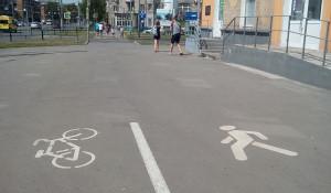 Велодорожка в Новокузнецке.