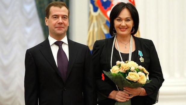 Дмитрий Медведев и Лариса Гузеева.