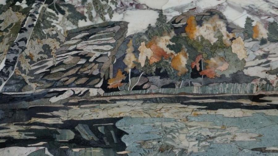 Фрагмент панно, Колыванский камнерезный завод.
