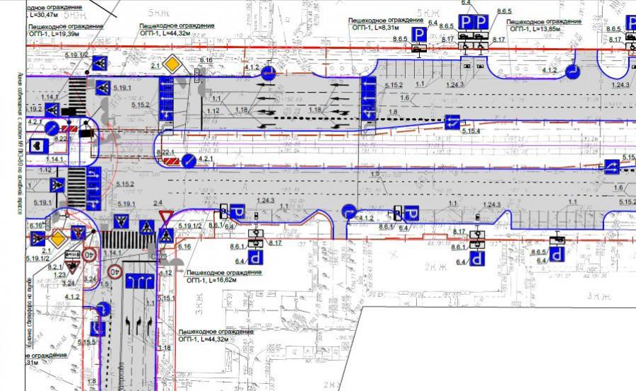 Проект реконструкции перекрестка Ленина-Матросова