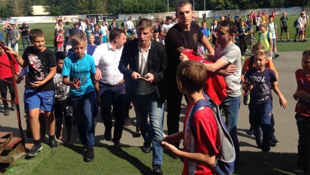 Андрей Аршавин в Барнауле.