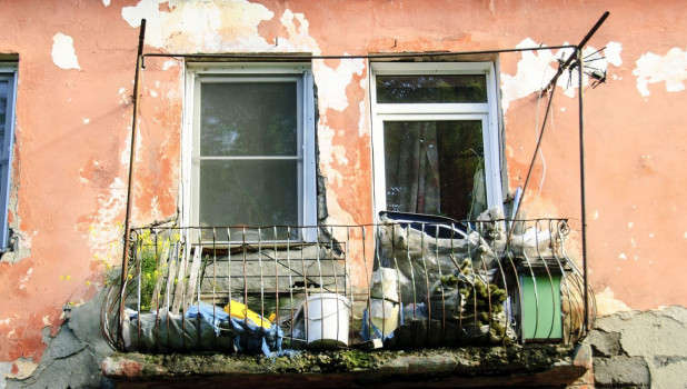 Аварийное жилье. Балкон.