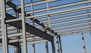 Строительство заринского кожевенного завода.