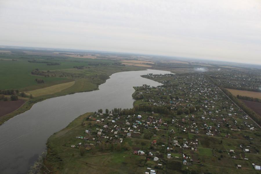 Алтайский край из иллюминатора вертолета.