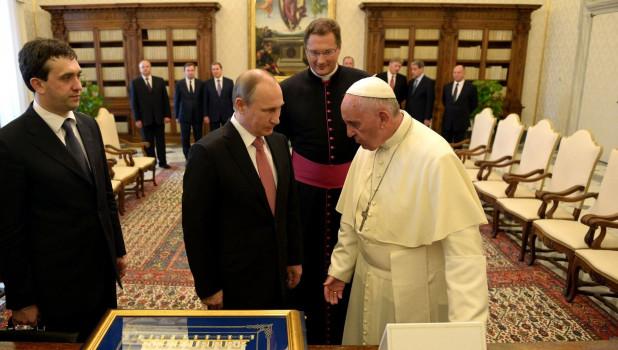 Встреча Владимира Путина с Папой Римским Франциском.
