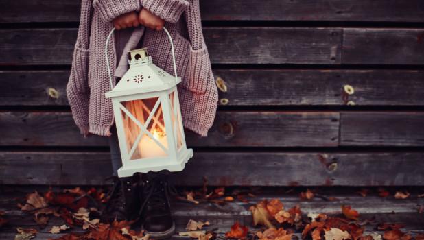Осень. Девочка.