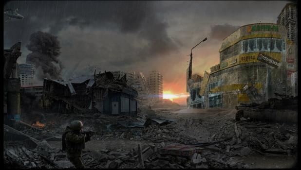 Бийск после ядерной бомбардировки.